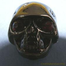 Black demon skull knob for electric or bass guitar with fixing grub screw scull
