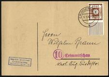 11630] SBZ MiNr. 42 A EF Einzelfrankatur Ortspostkarte echt gelaufen CRIMMITSCHA