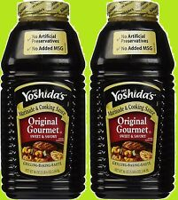 MR YOSHIDA's ORIGINAL GOURMET SWEET & SAVORY COOKING SAUCE~2-86oz JUGS YOSHIDAS