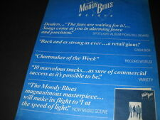 MOODY BLUES Octave hyped press quotes 1978 PROMO POSTER AD mint condition