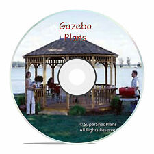 High End Design Gazebo Plans, 10x16 Hexagon Gazebo Plans, with extra plans