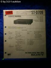 Sony Service Manual ST D709 Tuner  (#1562)