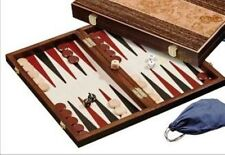 "BACKGAMMON SET. ROOT WOOD DESIGN. 38cm (15"") Deluxe. New."