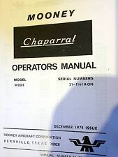 Mooney Chaparral Owner's manual M20E