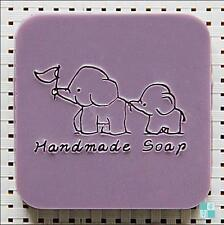 5X5cm DIY 0124 Elephant Handmade Acrylic Soap Seal Stamp Custom Soap Stamps