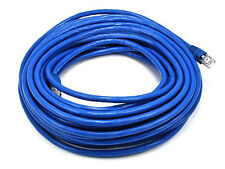 Monoprice 50FT 24AWG Cat6A 500MHz STP Bare Copper Ethernet Network Cable - Blue
