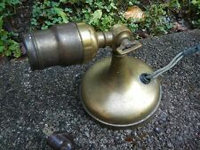 Antique Early Brass Sconce Wall Vintage Light Fixture Old