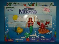 VINTAGE JUSTOYS BENDEMS DISNEY'S LITTLE MERMAID 3 PIECE GIFT SET! NIB! ARIEL....