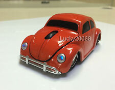2.4G wireless USB Optical Mouse VW Beetle Car Mice for Laptop PC MAC Orange Gift