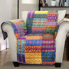 ORANGE YELLOW BLUE PURPLE BOHO PATCHWORK CHAIR FURNITURE PROTECTOR SLIPCOVER