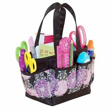 Scrapbooking Tote Bag Mini Organizer Storage Craft Supplies Carrier Black Purple