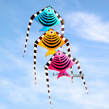 74In Small Fish Kite Single Line Children Toys Outdoor fun Sports for kids