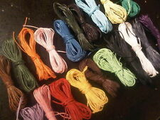 100m x 1mm MIXED Waxed COTTON CORD Thong String 4 Beads CRAFT Jewellery Making