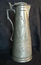 Grand pichet  étain (jug pitcher kanne) art nouveau,jugendstil 1900