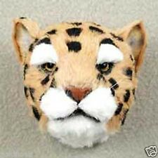 LARGE JAGUAR HEAD-Fur Refrigerator Magnets! MINIATURE THROPHY:-)