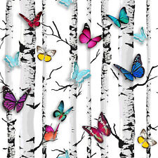 Emperors Garden Butterfly Birch Tree Wallpaper by Muriva 102529