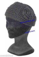 BANDEAU modèle femme hiver noir uni TAILLE UNIQUE chapeau bonnet woman black hat