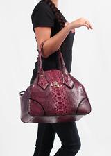 Vivienne Westwood Frilly Snake Bag Red Cherry Oxblood Burgundy Wine Shoulder
