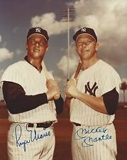 Mickey Mantle & Roger Maris autographed 8x10 reprint photo