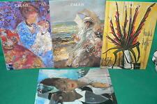 4 catalogues vente aux enchères CALAIS tableaux modernes bronze sculptures (4)