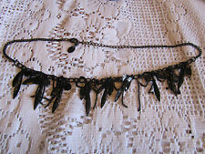 "Claire's Black Chain Necklace with Dangling Hearts - 19-22"" long"