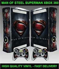 XBOX 360 CONSOLE AUTOCOLLANT SUPERMAN | MAN OF STEEL SKIN & 2 MANETTE STICKERS