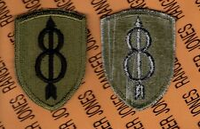 US Army 8th Infantry Division Pathfinders OD Green & Black BDU uniform patch c/e