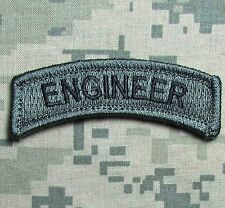 ENGINEER TAB TACTICAL USA ARMY MILITARY HOOK ACU DARK MORALE BADGE PATCH
