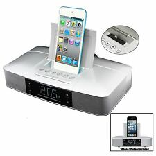 CAPELLO STEREO FM CLOCK ALARM RADIO w/ LIGHTNING DOCK for iPHONE 5/5S and 6 iPOD