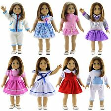 "New 8 PCS Doll Clothes Lot Party Dress Outfit For 18"" inch American Girl Doll"