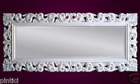 Großer Barock Wandspiegel Florenz 190x80cm Standspiegel Spiegel Weiss