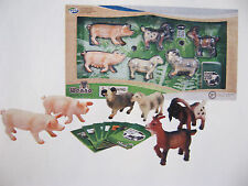 WENNO FARM ANIMAL SET WITH APPS 6 FARM ANIMALS TO SCALE PIGS GOATS SHEEP