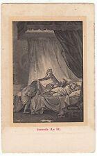 CARTE POSTALE  PIN UP FEMME NU NUE JOCONDE LE LIT 1904