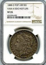 C7232- 1888-O VAM-4 HOT LIPS TOP 100 MORGAN DOLLAR NGC VF35