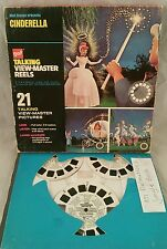 Walt Disney Cinderella 1965 GAF Talking View Master Reels Original box + EXTRAS