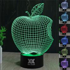Apfel 3D LED Tischlampe Farbwechsel Leselampe Nachtlicht Nachtlamp Geschenk