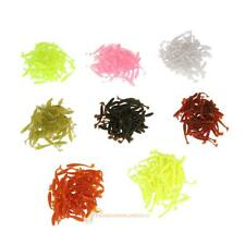 50x 80mm/2g T Tail Soft Lures Artificial Loach Fishing Bait Swimbait Worm Tackle