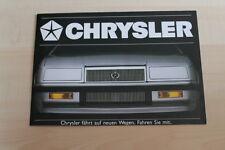 76527) Chrysler LeBaron Cherokee Wrangler Voyager Prospekt 198?