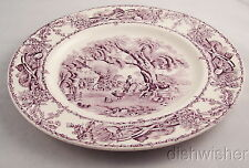 "Royal Staffordshire Purple Transferware Rural Scenes Salad Plate(s) 8"" Great"