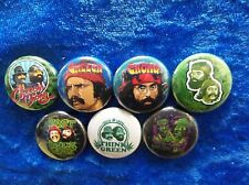 "1"" pinback buttons inspired by ""Cheech and Chong"" Stoner"