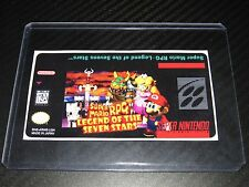 Super Mario RPG Snes Cartridge Replacement Game Label Sticker Precut