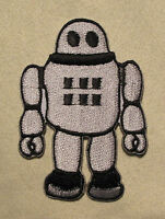 CUTE RETRO ROBOT  Embroidered Iron On/Sew On Patch Goth Emo Punk