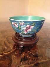 VINTAGE MID CENTURY CHINESE FAMILLE ROSE PORCELAIN RICE BOWL  - CHINA