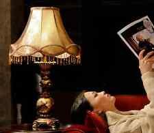 Luxury European Style Resin Table Lamp Bedside Desk Light Home Bedroom Lighting