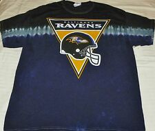 """NEW"" Baltimore Ravens ~ HELMET Logo Tye Dye Dyed SHIRT ~ NFL Adult Sz 1X XL"