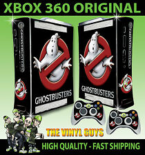 XBOX 360 OLD SHAPE GHOST BUSTERS LOGO GHOSTBUSTERS STICKER SKIN & 2 PAD SKIN
