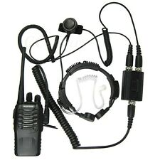 Heavy Duty Military Tactical Throat Mic For Motorola CP140 CP185 CP180 CP040