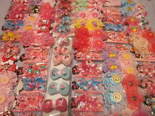 Lot 30pcs15pair Assorted acrylic Elastic Hair Band Pin Tie Clip bling Kawaii v3