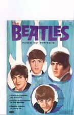 VINTAGE UNCUT 1964 BEATLES PORTRAITS PAPER DOLLS ~HD LASER REPRODUCTION~LO PR