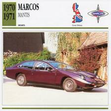 1970-1971 MARCOS MANTIS Sports Classic Car Photo/Info Maxi Card